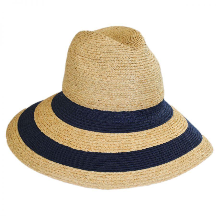 dd0829a1537 Newport Raffia Straw Wide Brim Fedora Hat alternate view 2