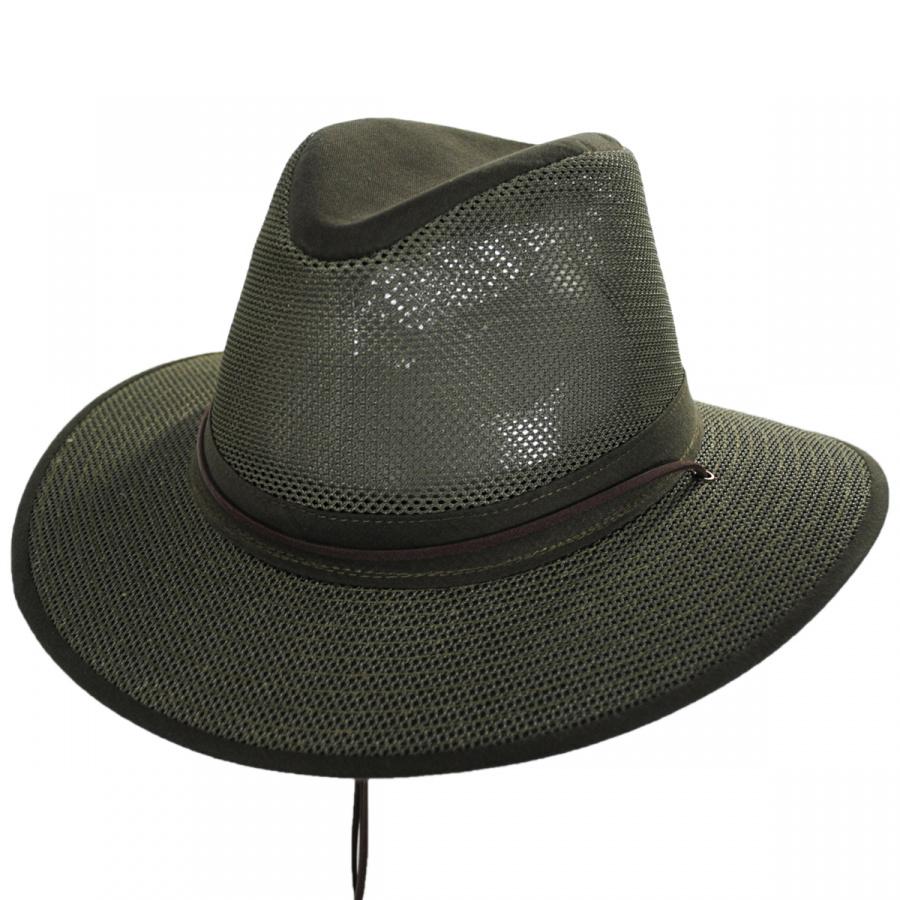 245d0c61eb847 Henschel Crushable Mesh Aussie Fedora Hat Crushable