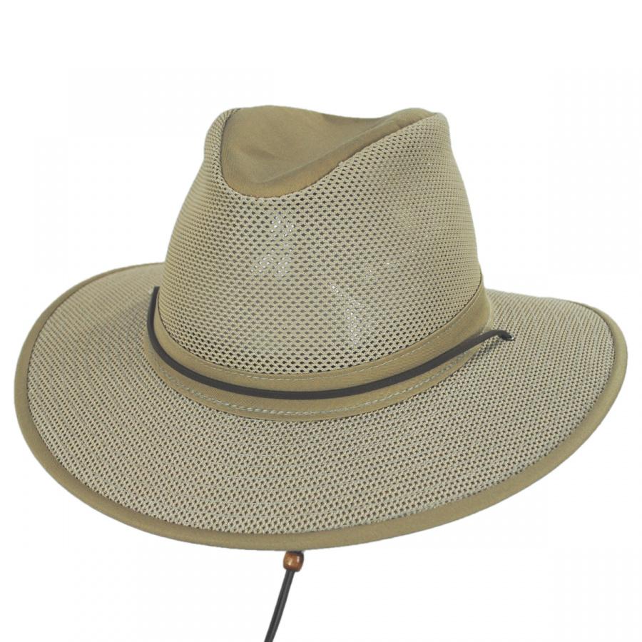Henschel Crushable Mesh Aussie Fedora Hat Crushable a45d39390a4a