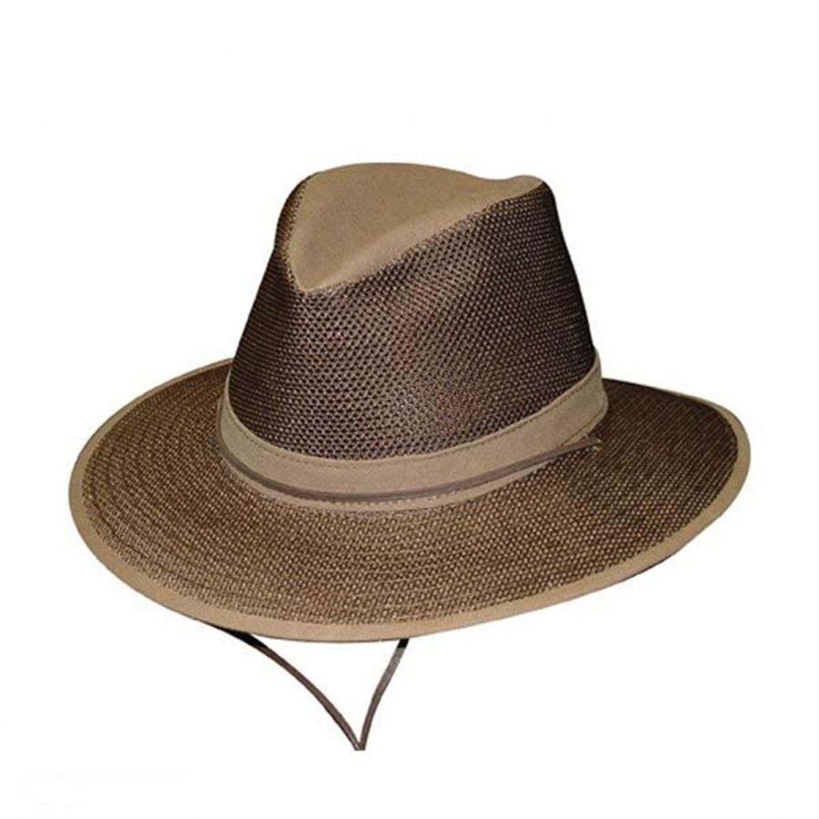 932a49d019942 Henschel Crushable Mesh Aussie Fedora Hat - 2X Sun Protection