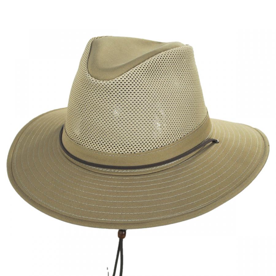Henschel Mesh Cotton Aussie Fedora Hat Sun Protection aacee17da016