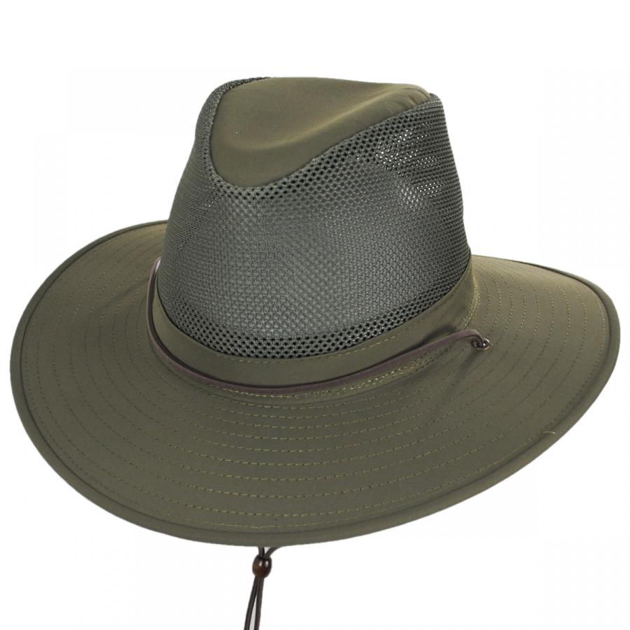 87eb0f102ba93 Henschel Solarweave Mesh Aussie Fedora Hat Crushable