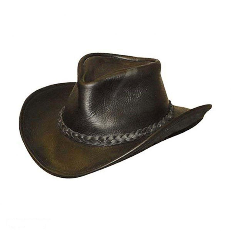 034587af5966c9 Henschel Walker Raging Bull Leather Western Hat Western Hats