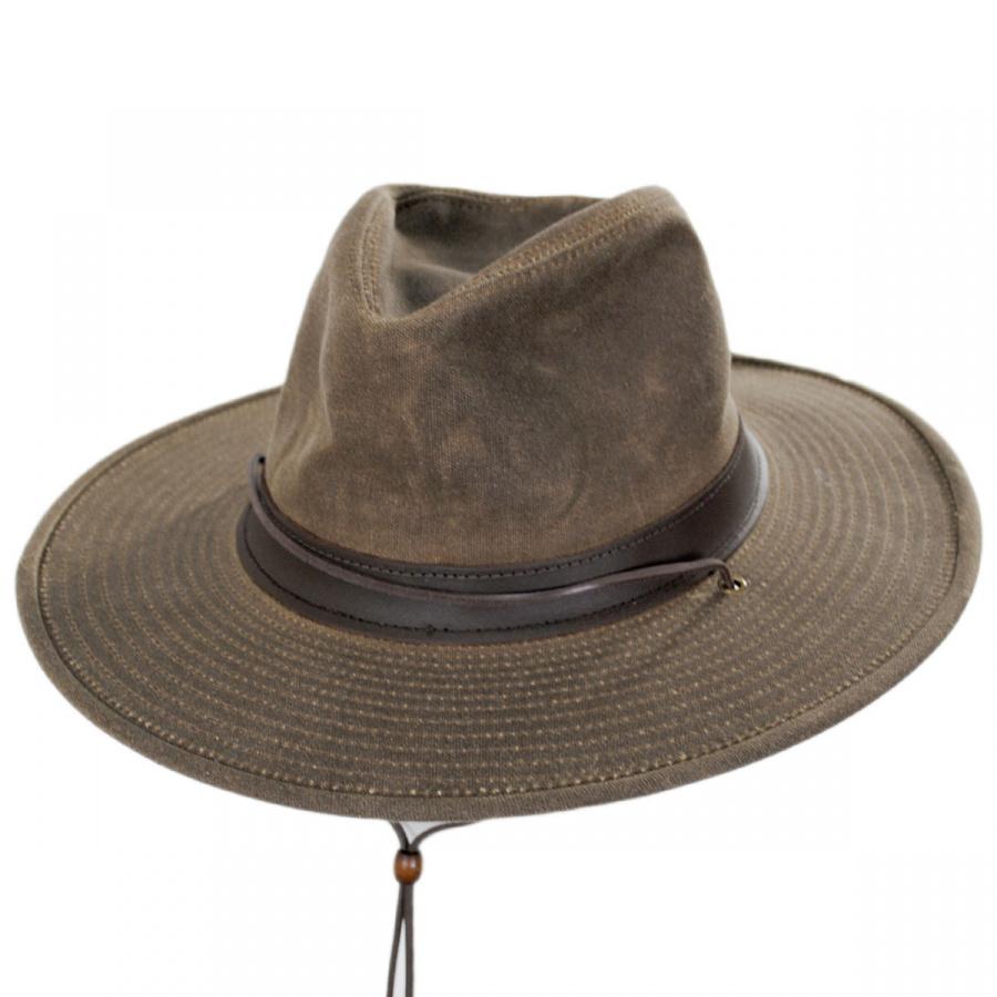Henschel Weekend Walker Waxed Cotton Outback Hat Outdoors c8599b88c4a