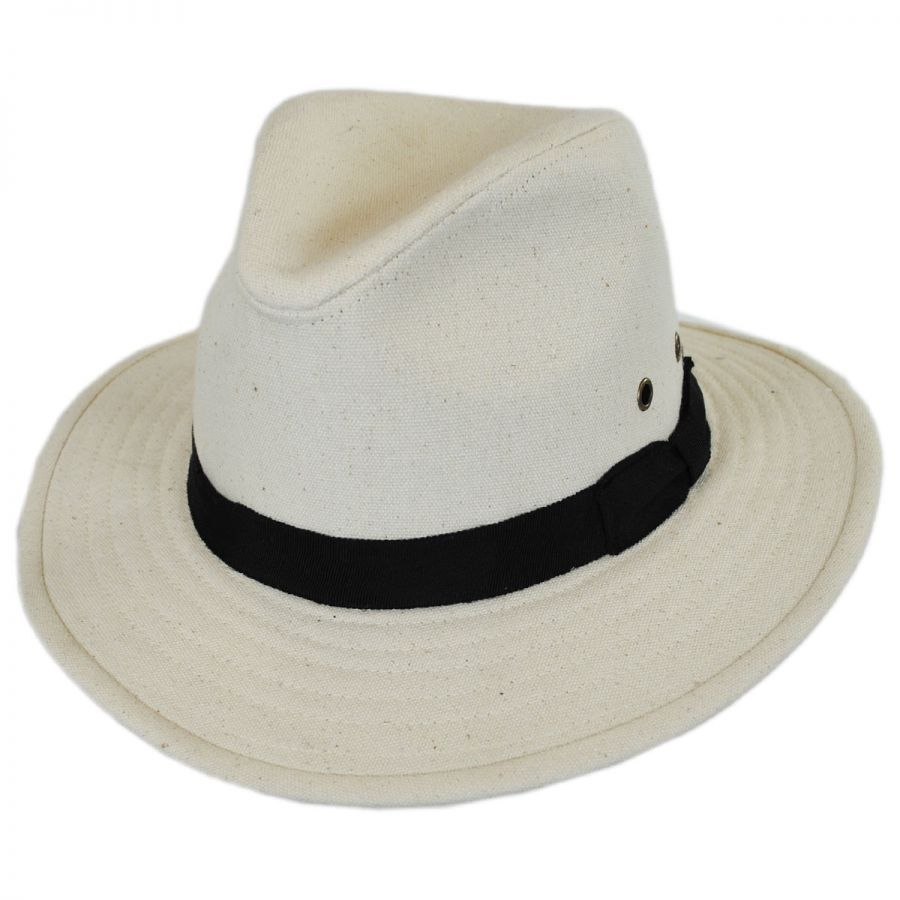 ale by Alessandra Skyler Cotton Canvas Safari Fedora Hat Fedoras fa7ca50d93