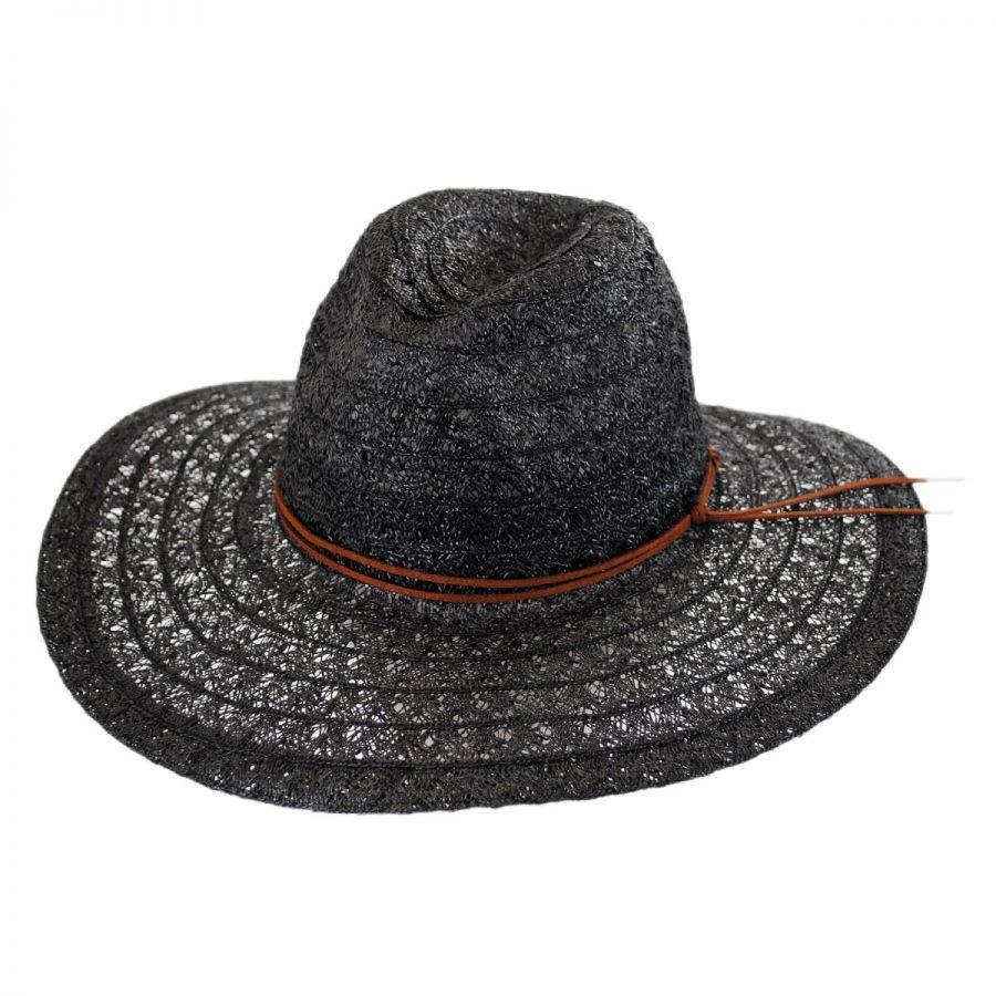 5860744d577 ale by Alessandra Prescott Toyo Straw Wide Brim Fedora Hat Fedoras