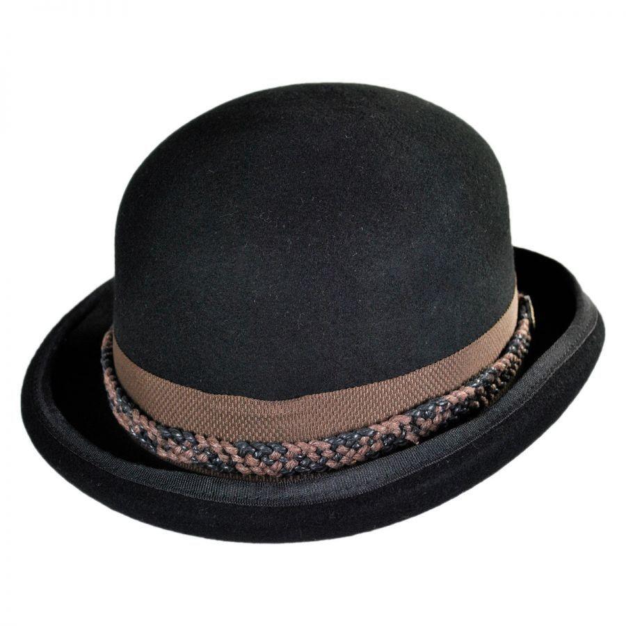 65aeea0b02e Conner Steampunk Wool Felt Bowler Hat Derby & Bowler Hats