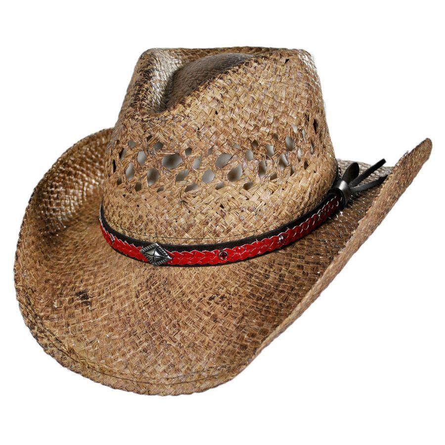 Conner Talledega Straw Western Hat 6dbb99e0586