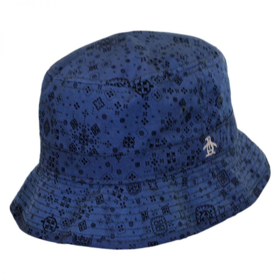 Penguin Bandana Cotton Bucket Hat Bucket Hats
