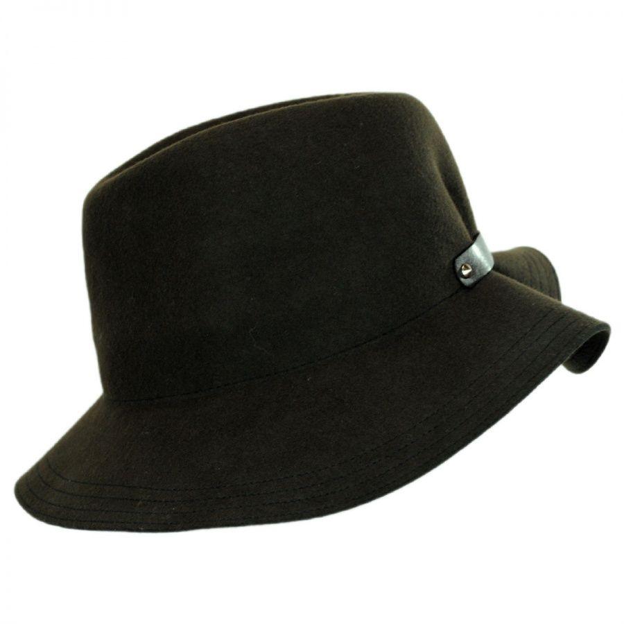 Hatch Hats Cinched Back Wool Felt Fedora Hat Fedoras 45000930d52