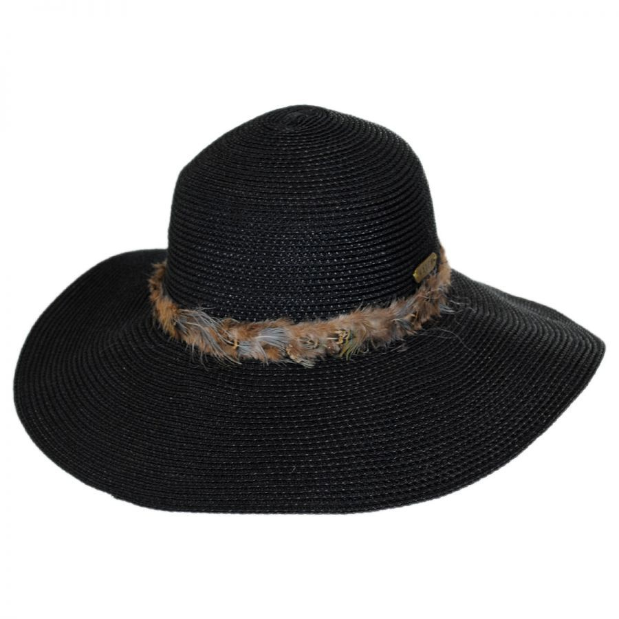 Hatch Hats Feathered Straw Sun Hat Casual Hats 32185082032