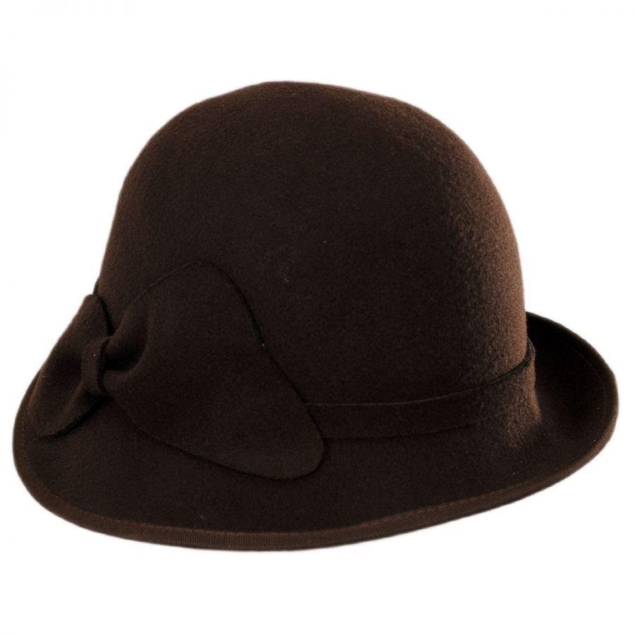 Swan Hats 'Cashmere' Wool Felt Cloche Hat Cloche & Flapper ...
