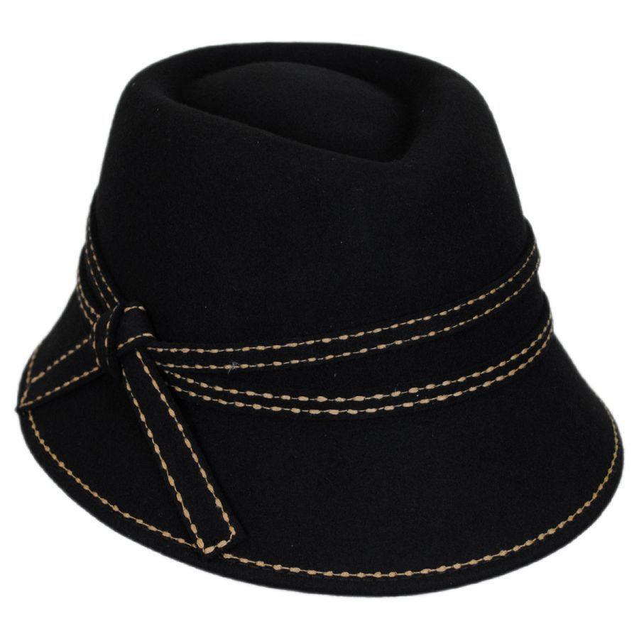 3b34aa748e1 Toucan Collection Wool Felt Fedora Cloche Hat Cloche   Flapper Hats