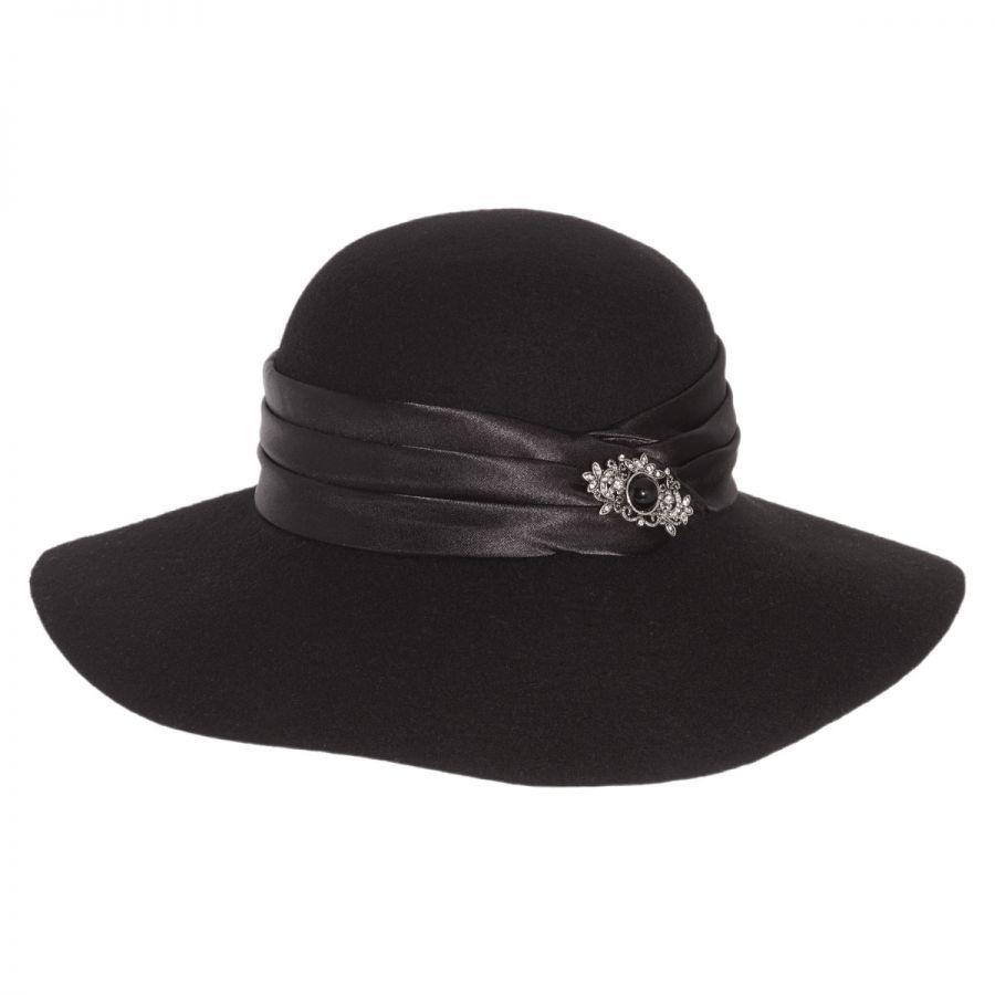 Toucan Collection Satin Brooch Wool Felt Floppy Hat Dress Hats 55f0a5f79af