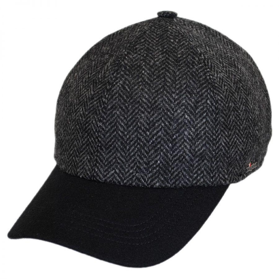 Wigens Caps Herringbone Wool Earflap Baseball Cap All Baseball Caps 109eade2857