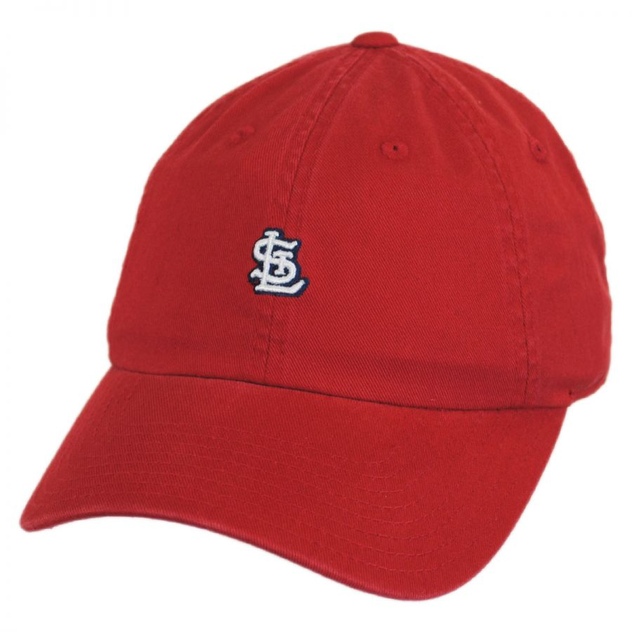american needle saint louis cardinals mlb micro logo strapback baseball cap mlb baseball caps
