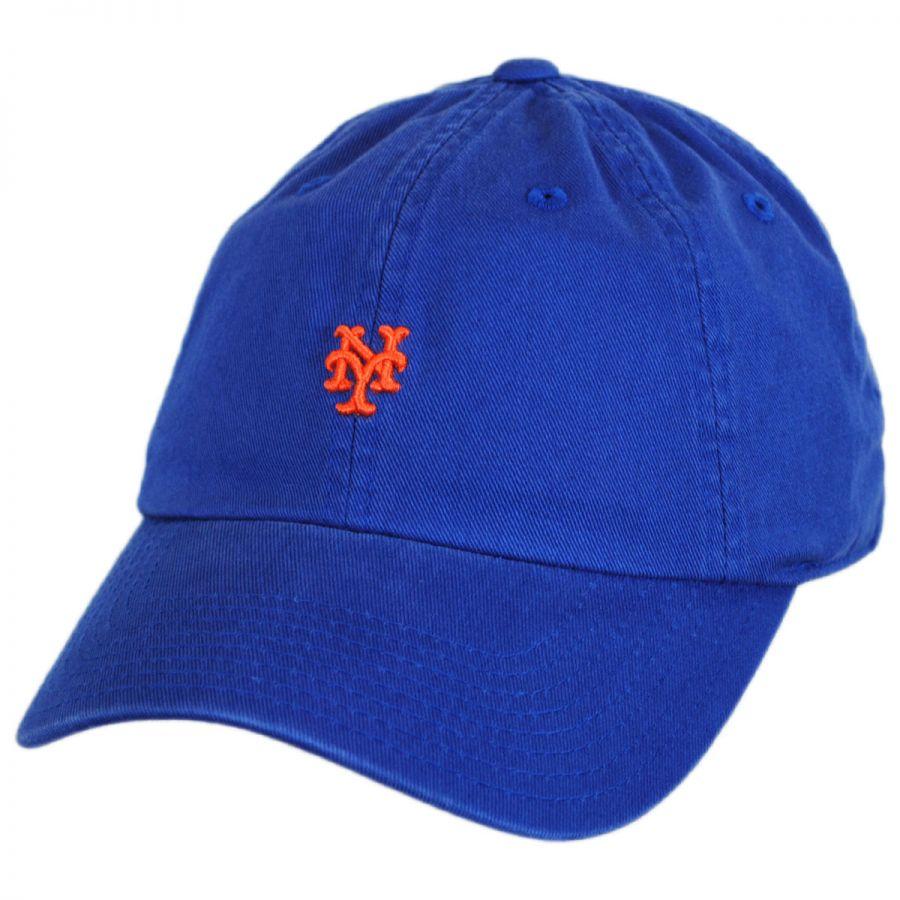 3052f468f6f American Needle New York Mets MLB Micro Logo Strapback Baseball Cap Dad Hat