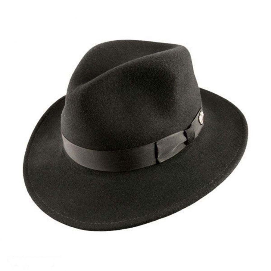 d8471301204 Bailey Curtis Wool Felt Safari Fedora Hat Crushable