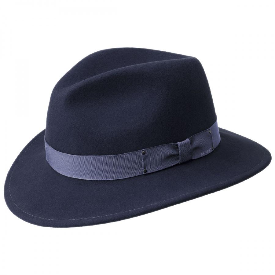 5f52ef79ba012f Bailey Curtis Wool Felt Safari Fedora Hat Crushable