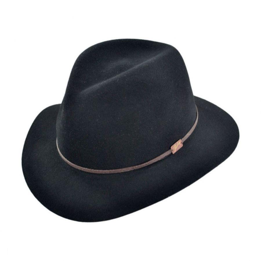 410851331cc96 Bailey Jackman Packable Wool LiteFelt Fedora Hat Crushable