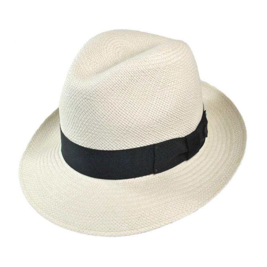 Bailey Thurman Panama Straw Fedora Hat Panama Hats dfacdb1d33b