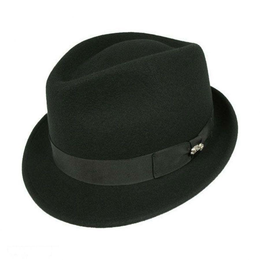c98b858d913 Bailey Wynn Wool Felt Fedora Hat Stingy Brim   Trilby