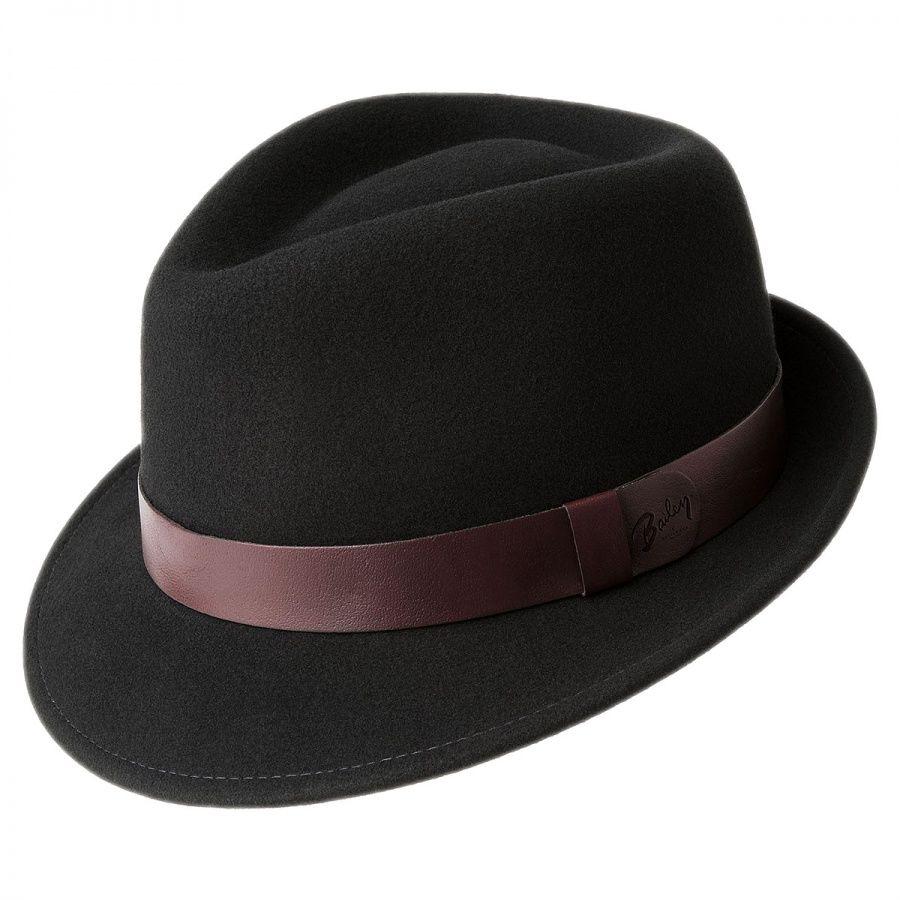 Bailey Yates Wool LiteFelt Trilby Fedora Hat Stingy Brim   Trilby 5644c6dfe4d1