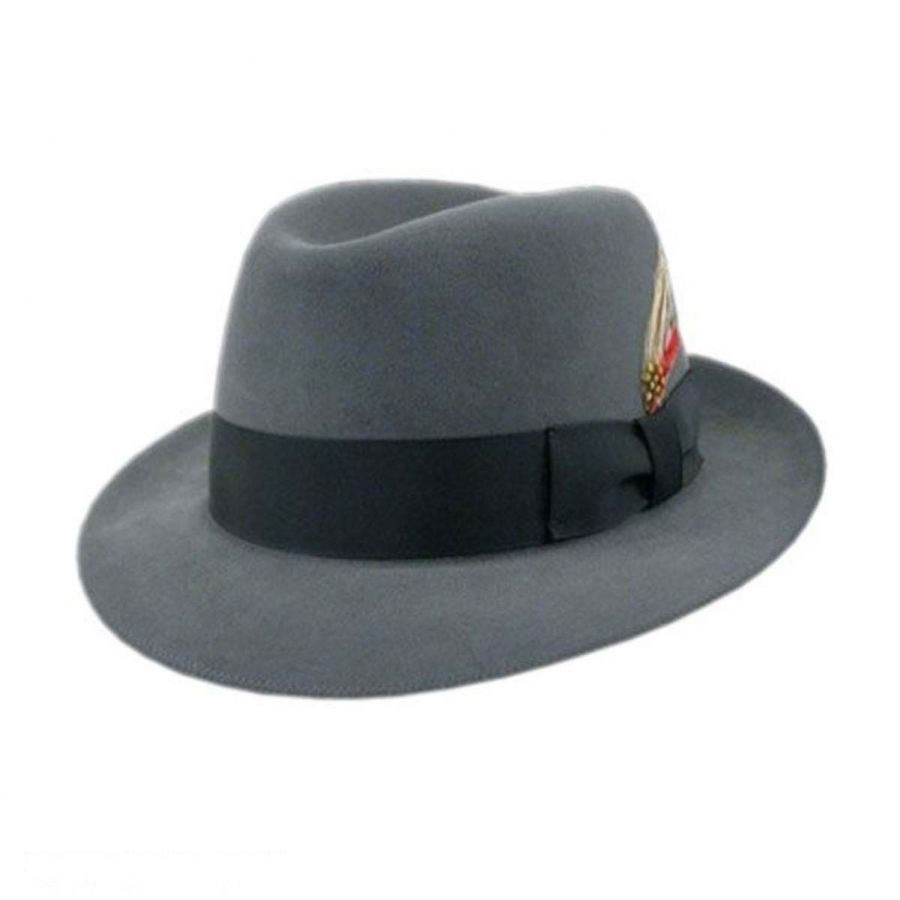 Bollman Hat Company 140 - 1930s Fur Felt Trilby Fedora Hat Stingy ... e03f1da8c0b