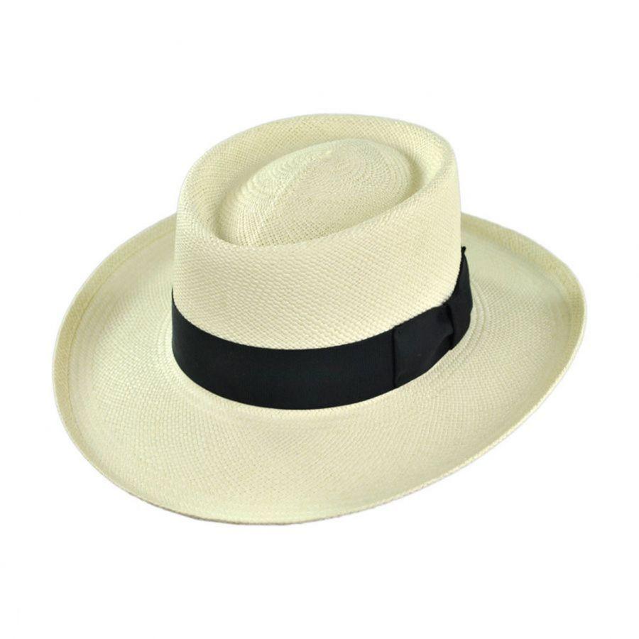 Pantropic Trinidad Panama Straw Gambler Hat Panama Hats 5cc57e8364d