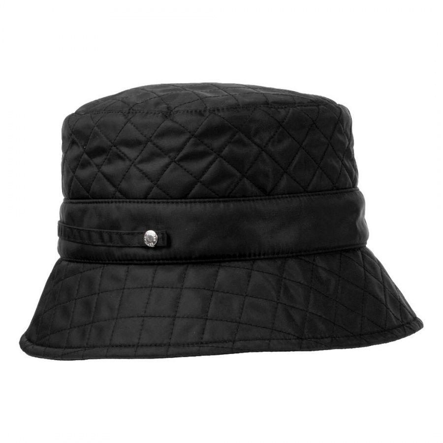 ac7583b0fc2 Betmar Quilted Nylon Rain Bucket Hat Rain Hats
