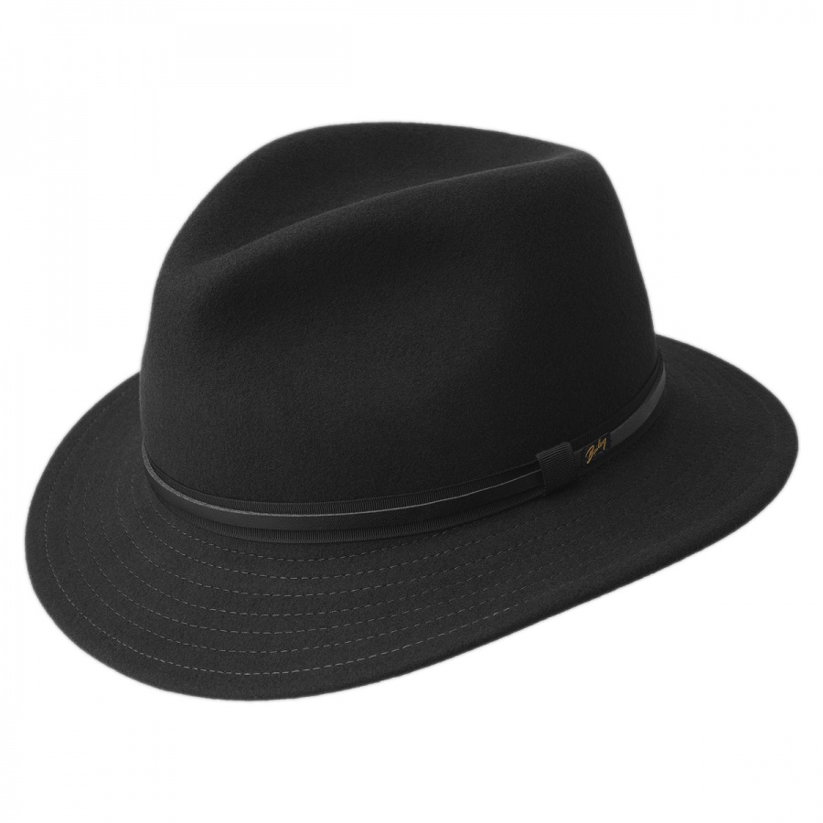 Bailey Evans Wool LiteFelt Fedora Hat Crushable 59a4a577754