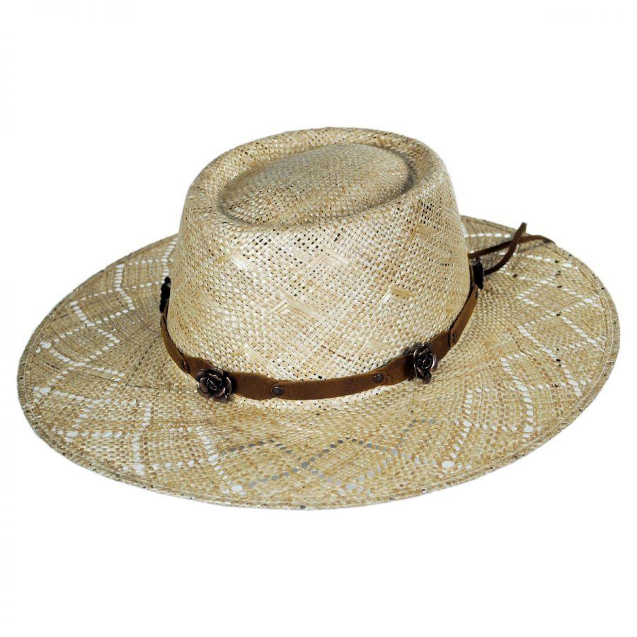 Honey Straw Gambler Western Hat alternate view 1 d09ac75936f