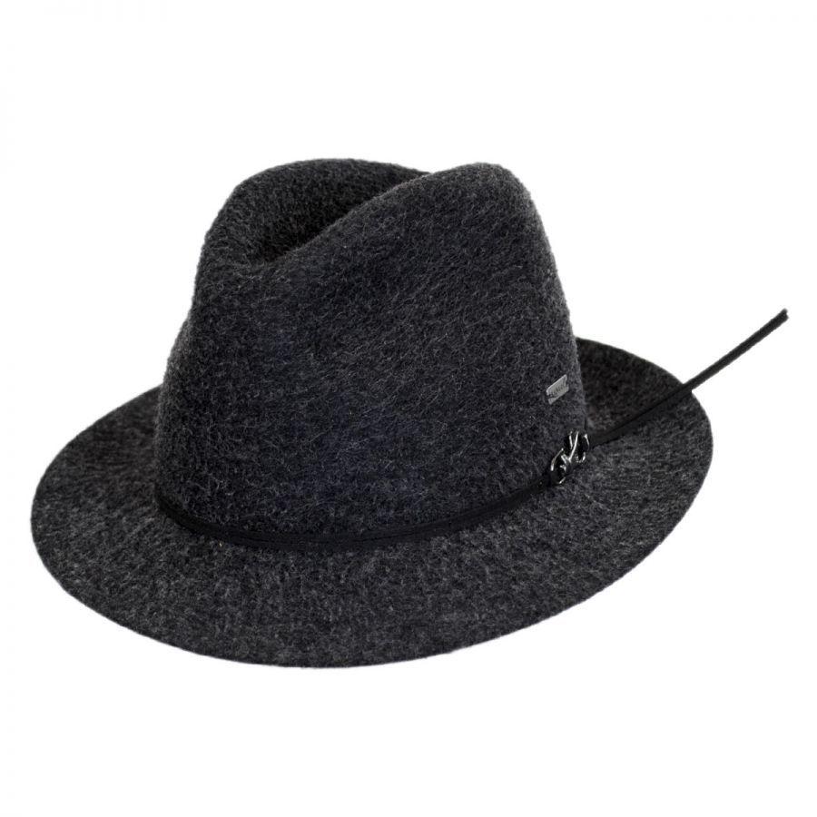 f2d2f34885d Kangol Snap Mylo Wool Felt Fedora Hat Crushable