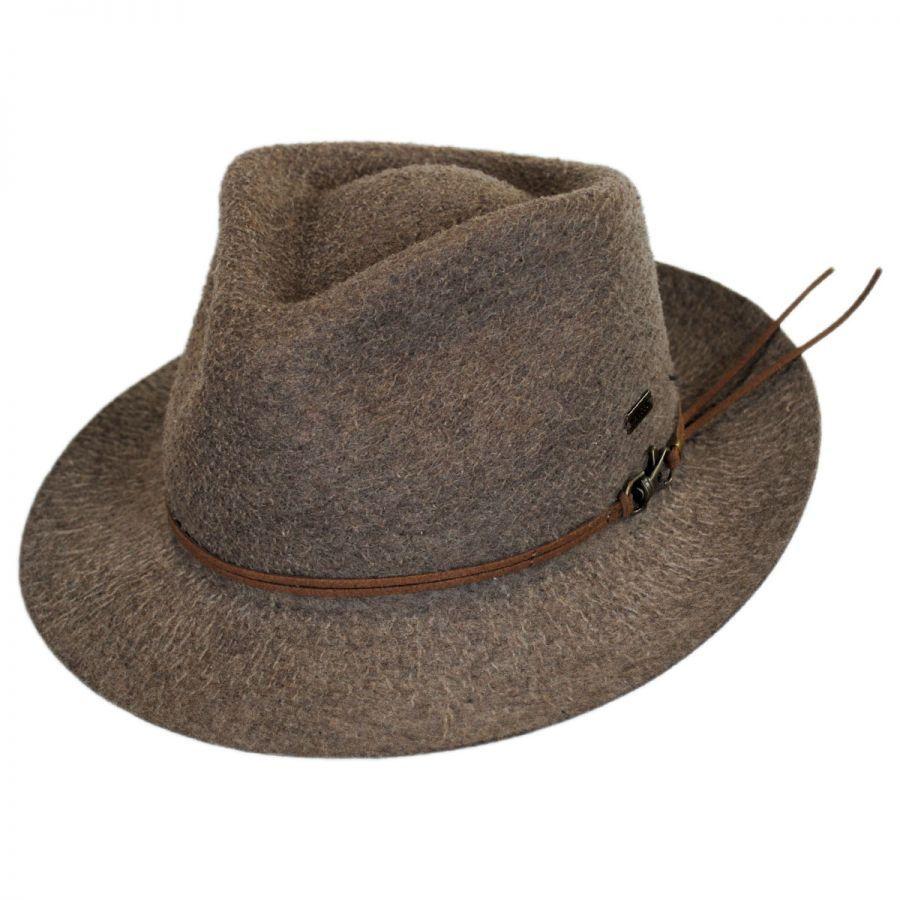 cc38f47990b Kangol Snap Carter Wool Felt Fedora Hat Crushable