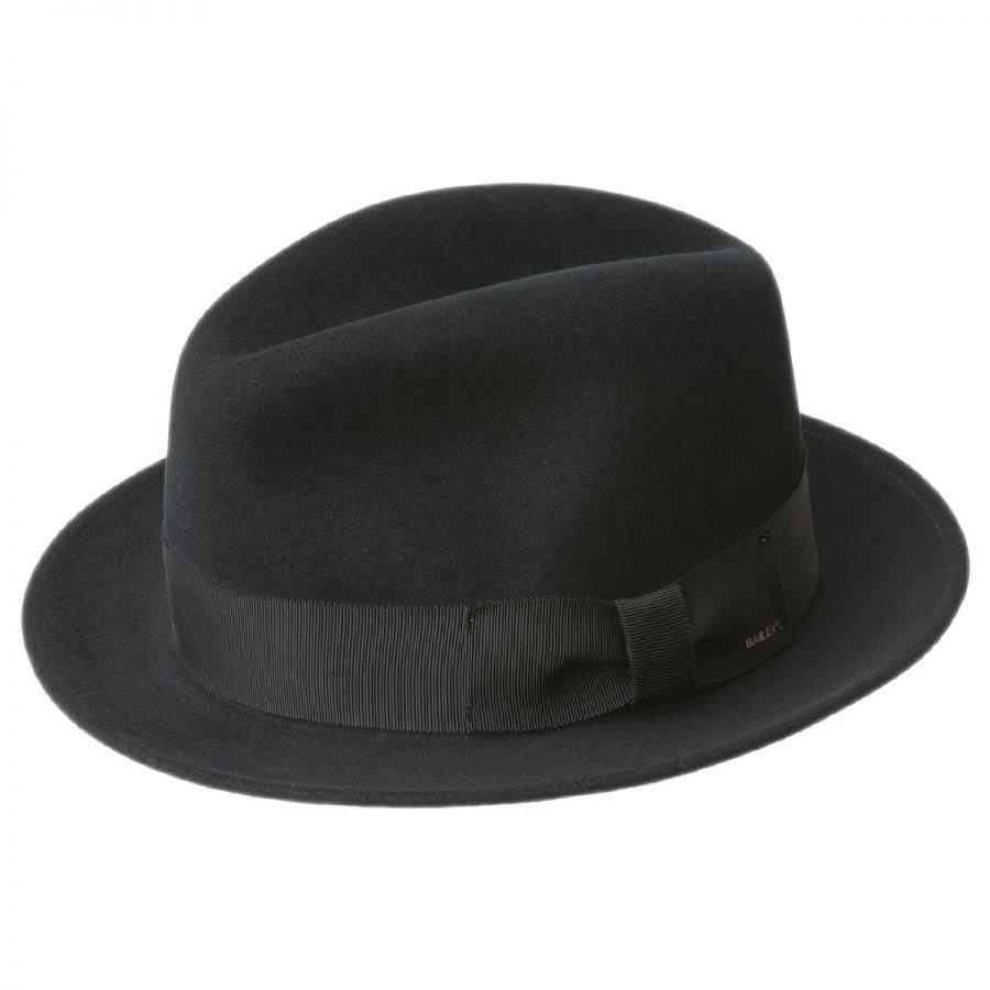 Country Feeling In Adamstown: Bailey Bogan Elite Wool Felt Fedora Hat Stingy Brim & Trilby