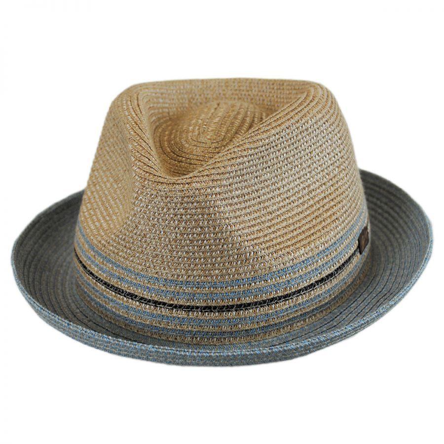 c3bdf11b37fa6 Bailey Hooper Toyo Straw Blend Trilby Fedora Hat Stingy Brim   Trilby
