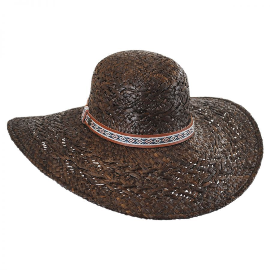 Karen Kane Raffia Straw Floppy Wide Brim Hat Sun Hats 1ec55d31e95