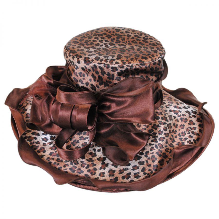 Sophia Sauvage Satin Boater Hat Dress Hats 7e5f6532ca3