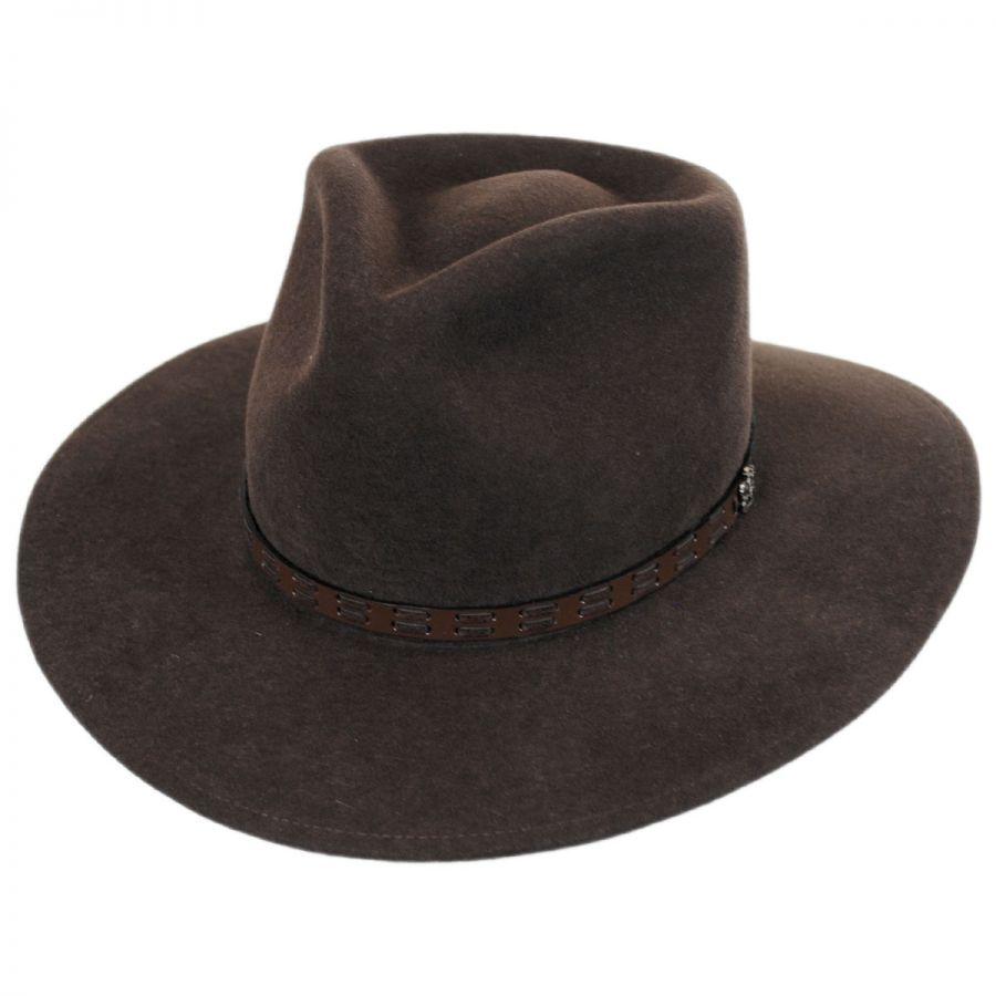 2da6430c1c4 Biltmore Pathfinder Crushable Wool Felt Outback Hat All Fedoras