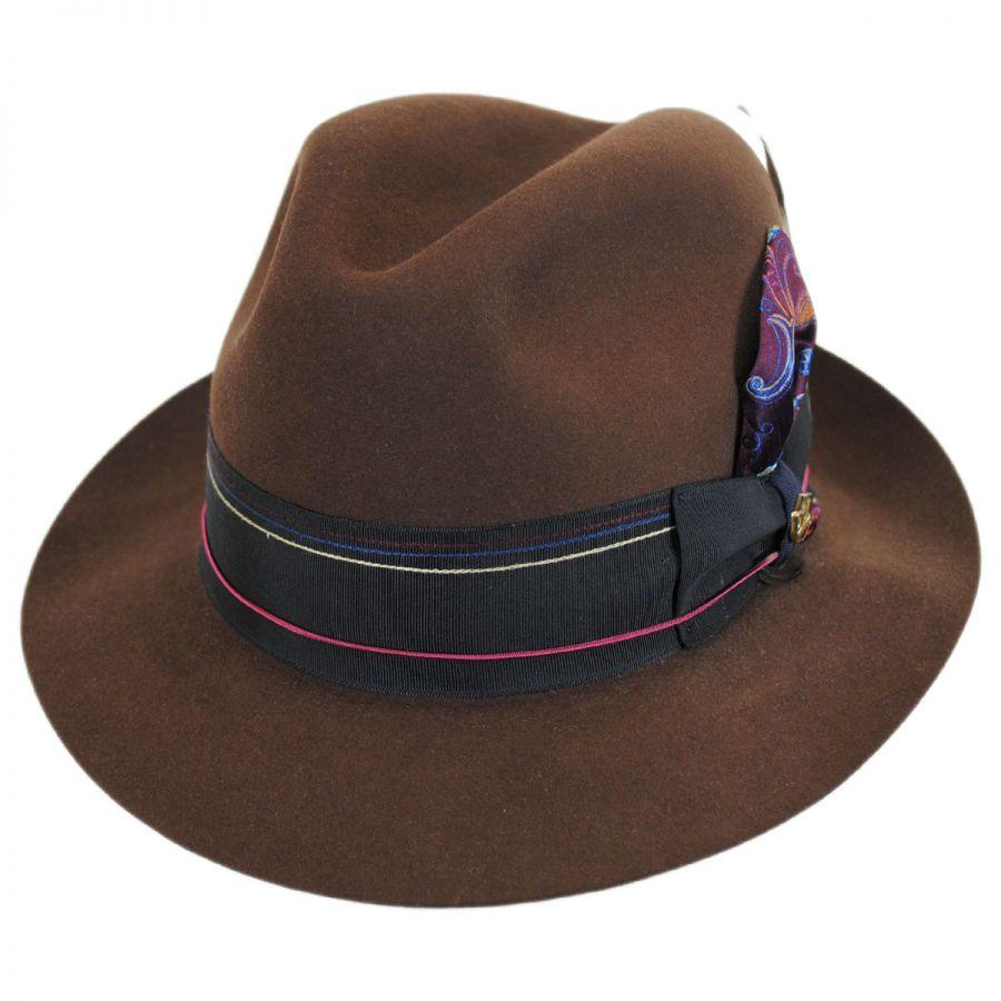 Biltmore 1917 Beaver Fur Felt Trilby Fedora Hat Fur Felt b4dad585d9ed