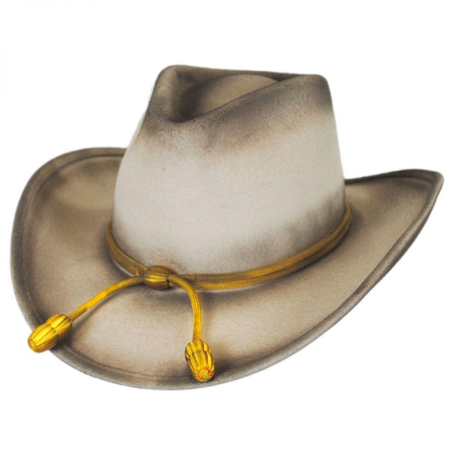 9f4f9239233111 Resistol John Wayne The Fort Wool Felt Crushable Western Hat Western ...