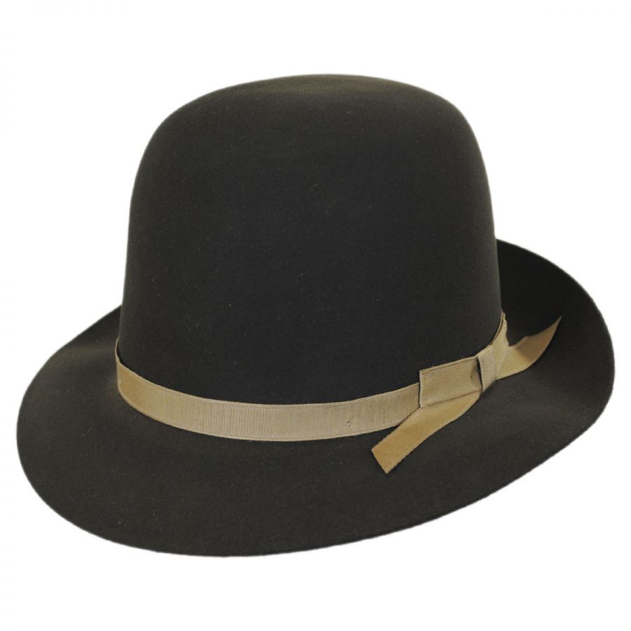 Stetson Sightseer Fur Felt Open Crown Fedora Hat Fur Felt cd68c9584e2
