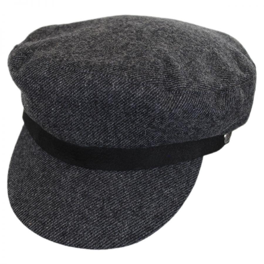 e42cbc6f4abdf Brixton Hats Kurt Wool Blend Fiddler Cap Greek Fisherman Caps