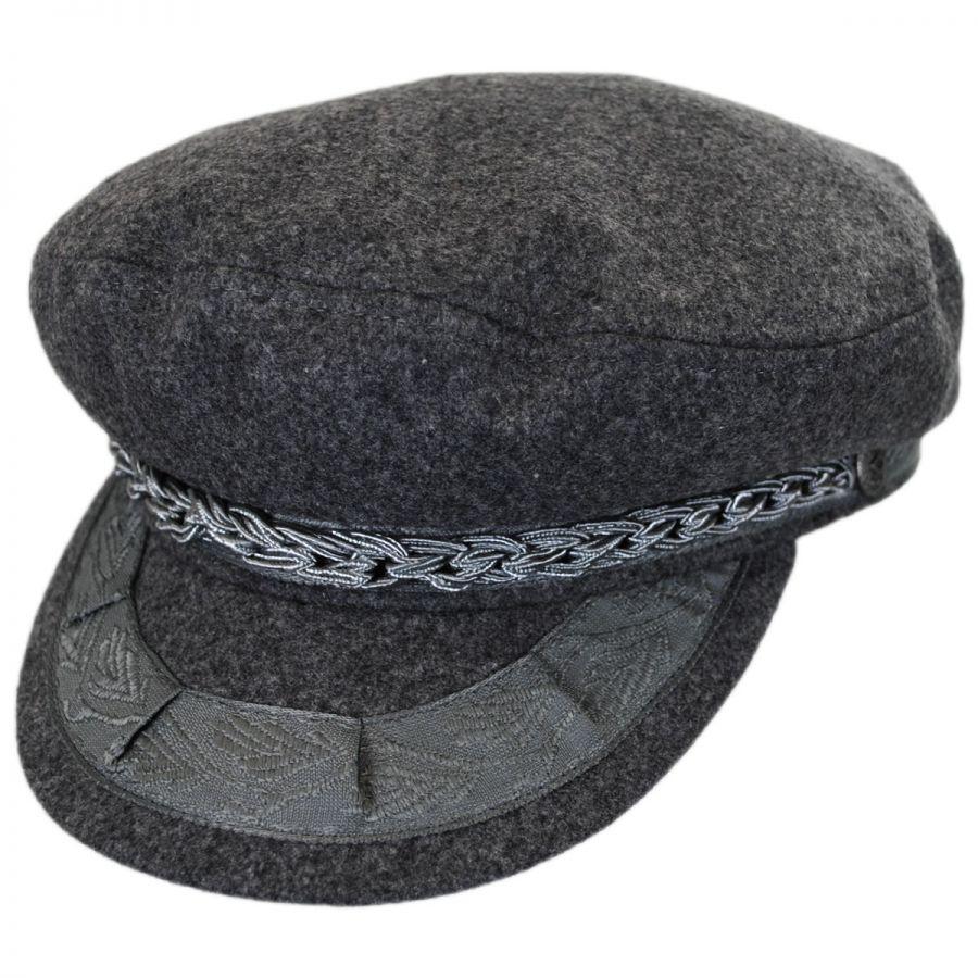 Fishermans Hat: Brixton Hats Athens Wool Blend Fisherman's Cap Greek