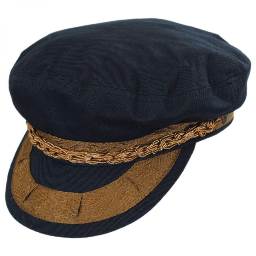 Fishermans Hat: Brixton Hats Athens Cotton Fisherman's Cap Greek Fisherman
