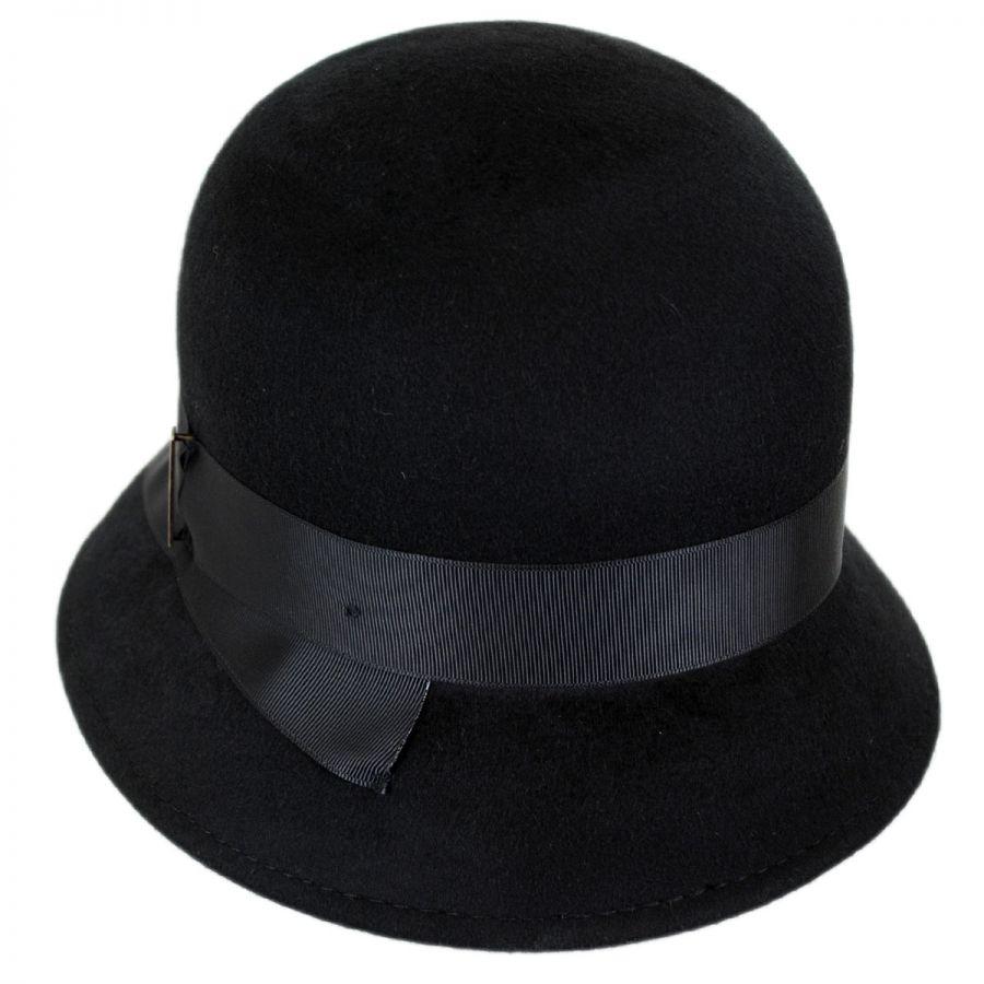 11acb1bd977 Betmar Alcott Wool Felt Cloche Hat Cloche   Flapper Hats