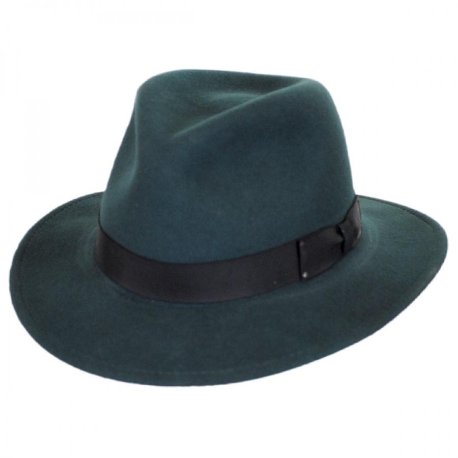 c6546d4cdea1e Bailey Curtis Wool Felt Safari Fedora Hat Crushable