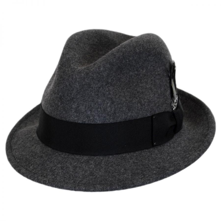 5dfedaf0a5700 Bailey Tino Wool Felt Trilby Fedora Hat Stingy Brim   Trilby