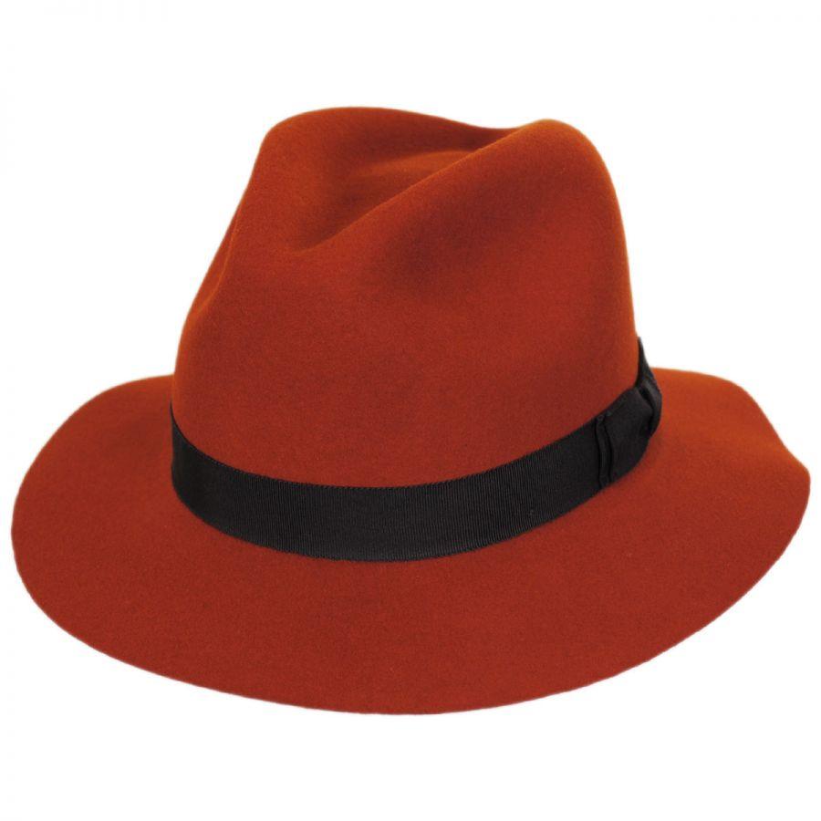 Pantropic Hunter Wool LiteFelt Fedora Hat Crushable d4bcc784bda
