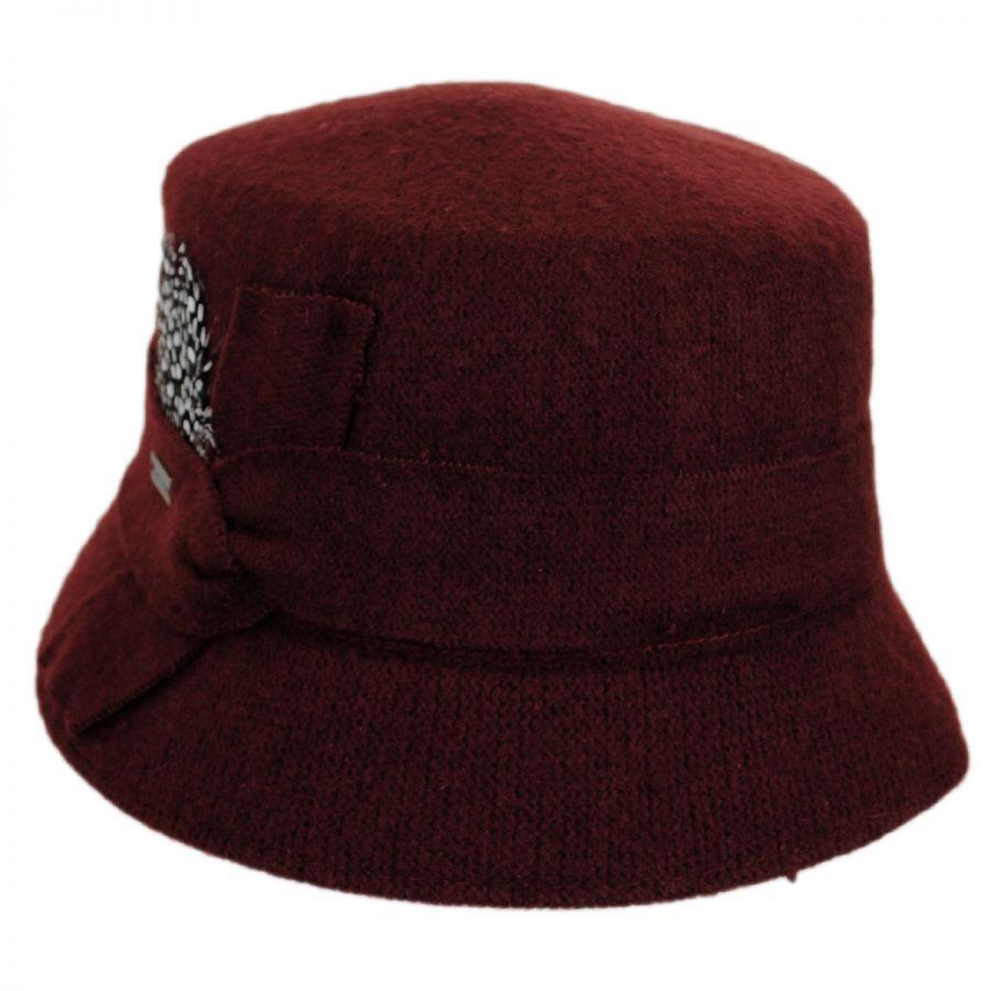 Betmar Laurel Wool Bucket Hat Cloche & Flapper Hats